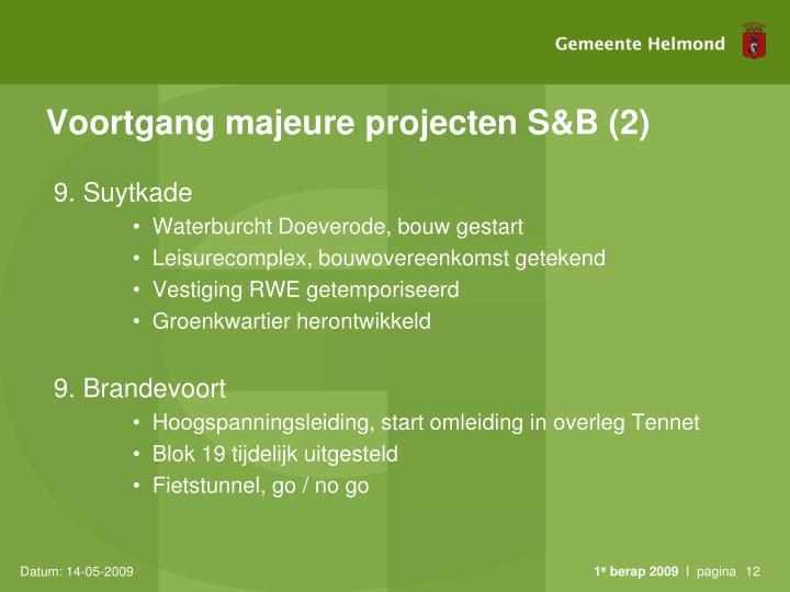 Voortgang majeure projecten S&B (2)