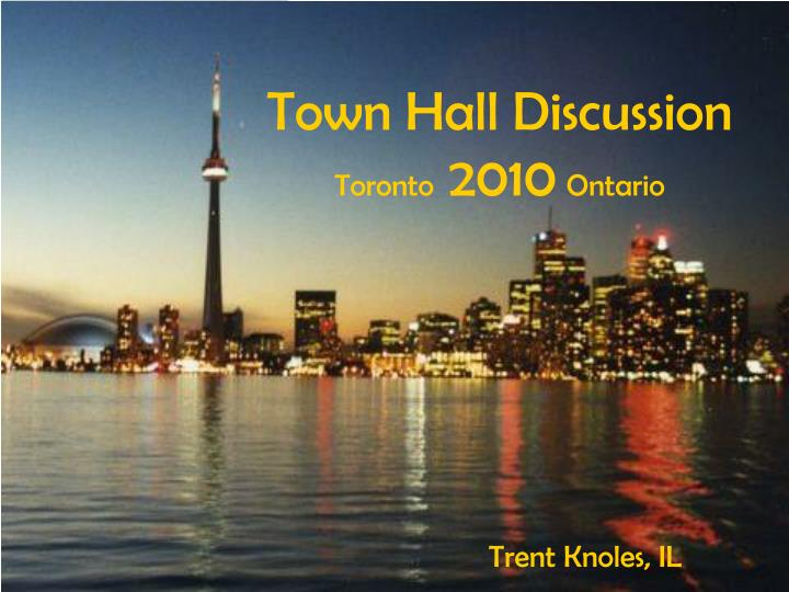 Town Hall Discussion