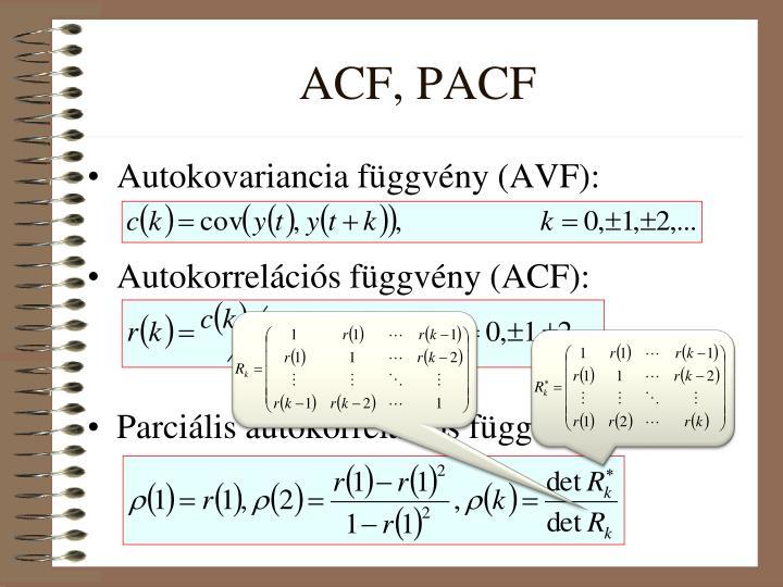 ACF, PACF