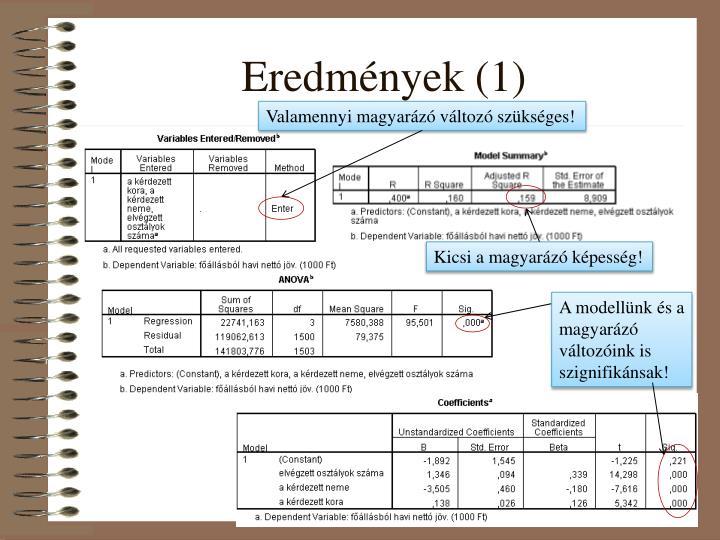 Eredmények (1)