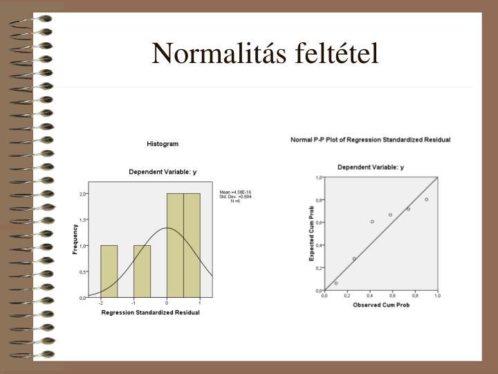 Normalitás feltétel