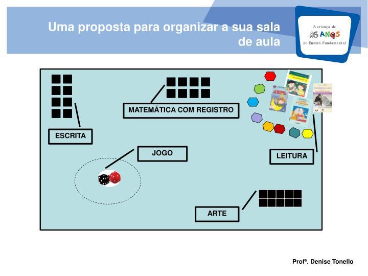 Uma proposta para organizar a sua sala de aula
