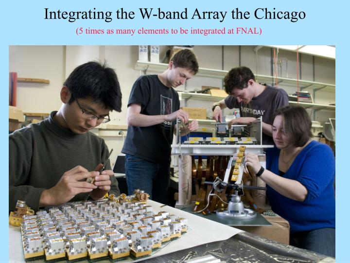 Integrating the W-band Array the Chicago