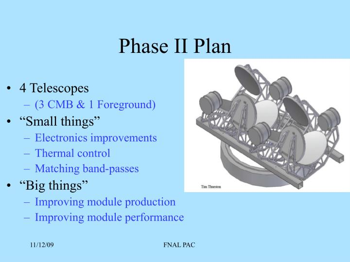 Phase II Plan