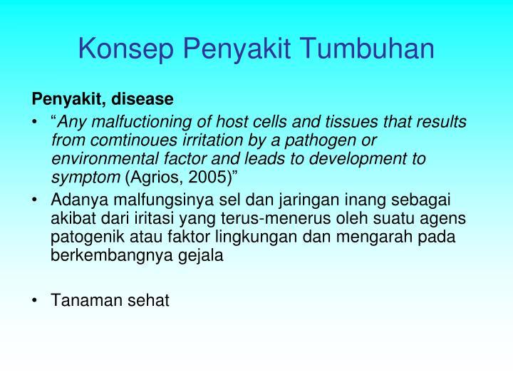 Konsep Penyakit Tumbuhan