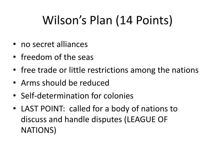 Wilson's Plan (14 Points)