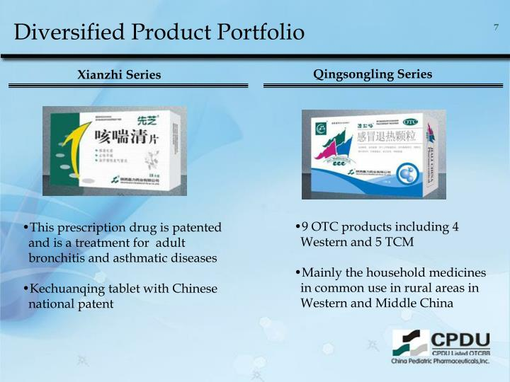 Diversified Product Portfolio