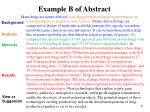 example b of abstract