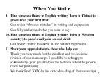 when you write3