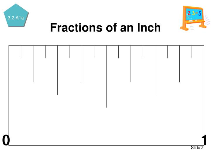 Fractions of an inch1