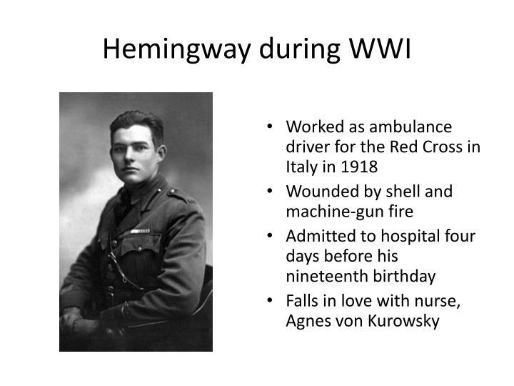 Hemingway during WWI