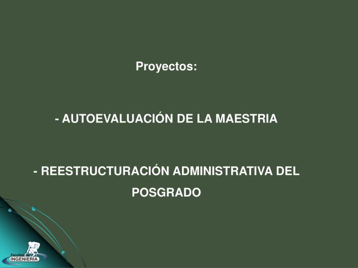 Proyectos: