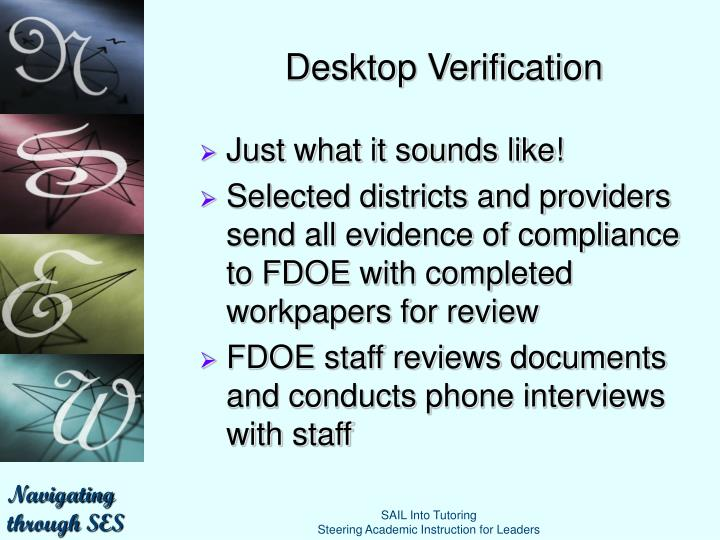 Desktop Verification