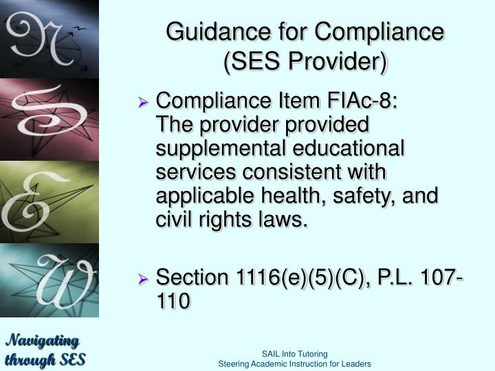 Guidance for Compliance