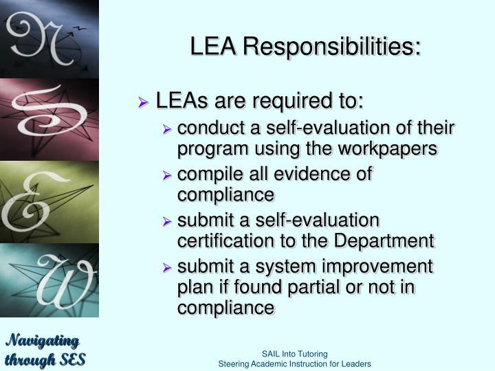 LEA Responsibilities: