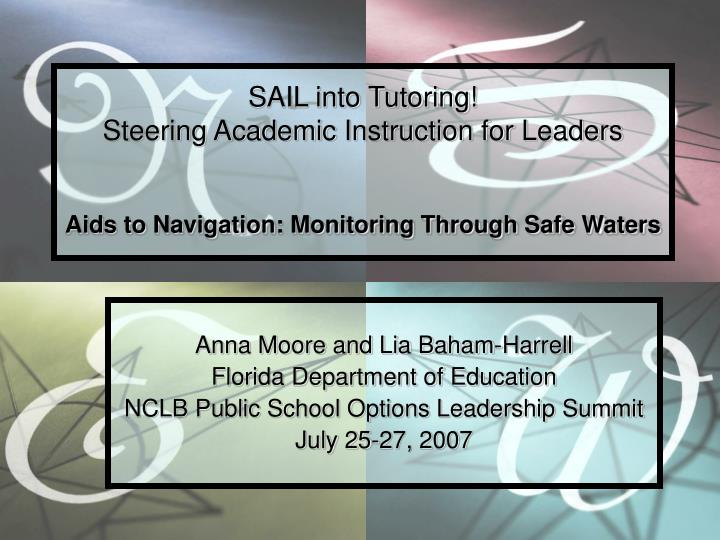 SAIL into Tutoring!
