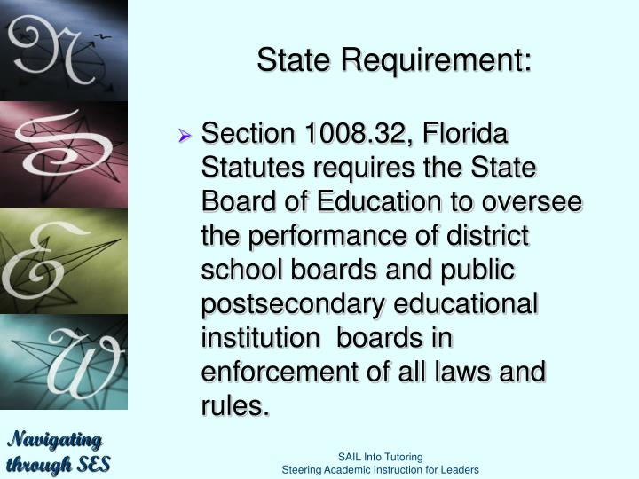State Requirement:
