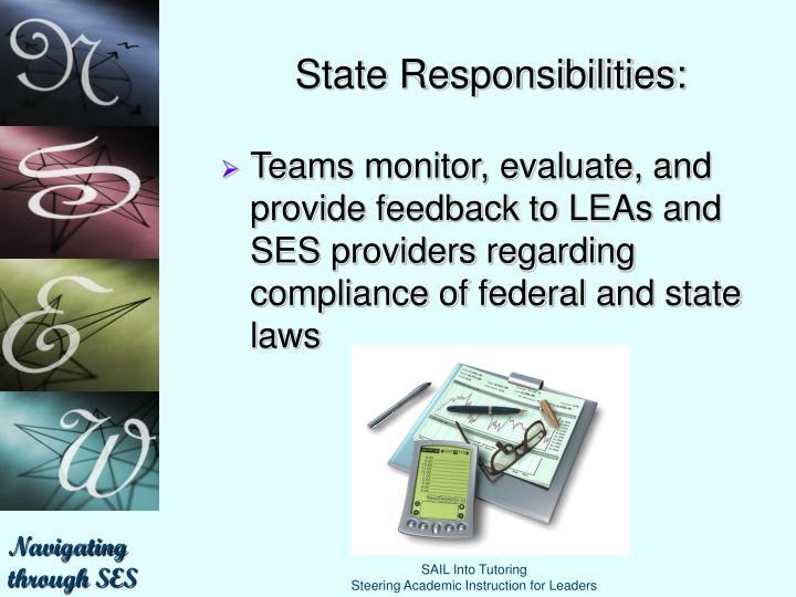 State Responsibilities: