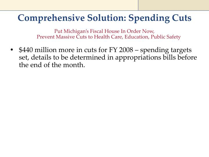 Comprehensive Solution: Spending Cuts