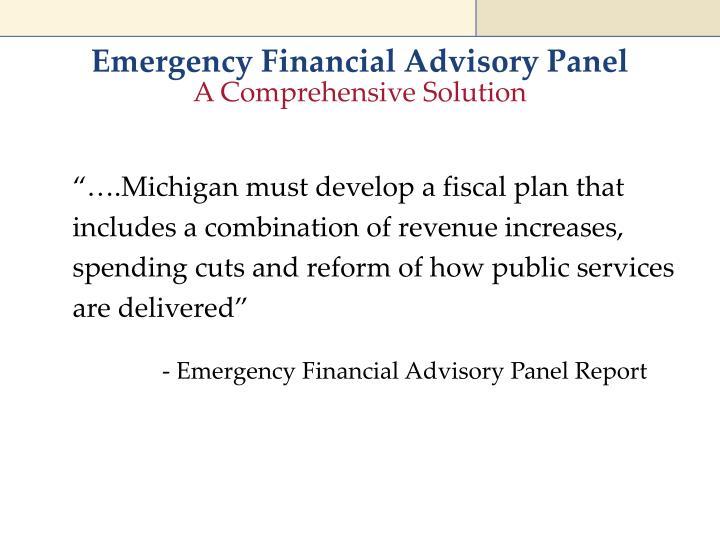 Emergency Financial Advisory Panel