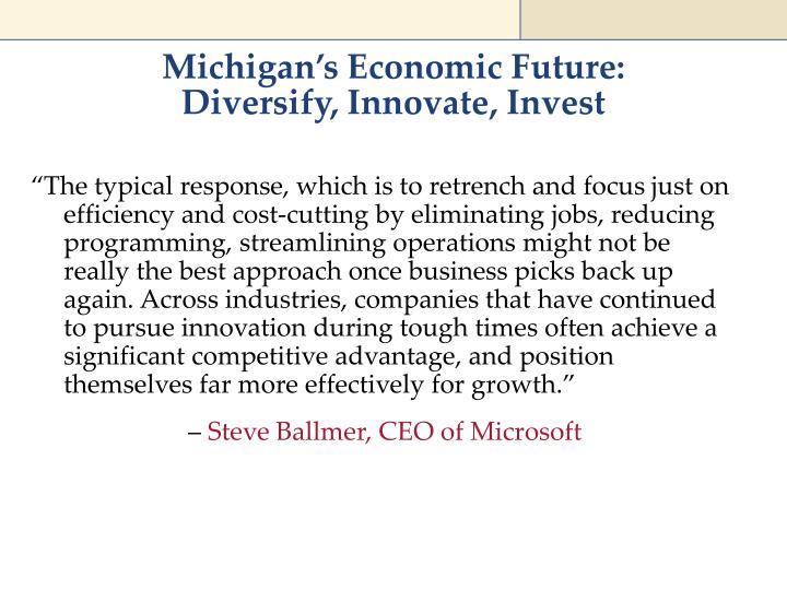 Michigan's Economic Future: