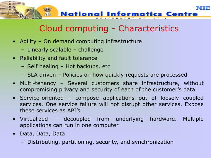 Cloud computing - Characteristics