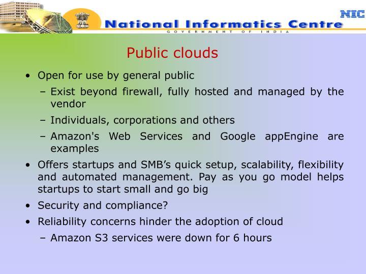 Public clouds