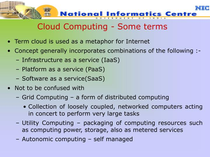 Cloud Computing - Some terms