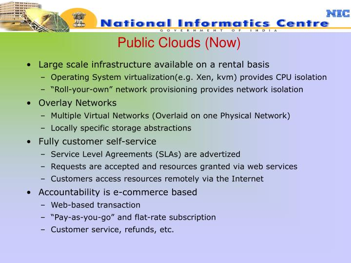 Public Clouds (Now)