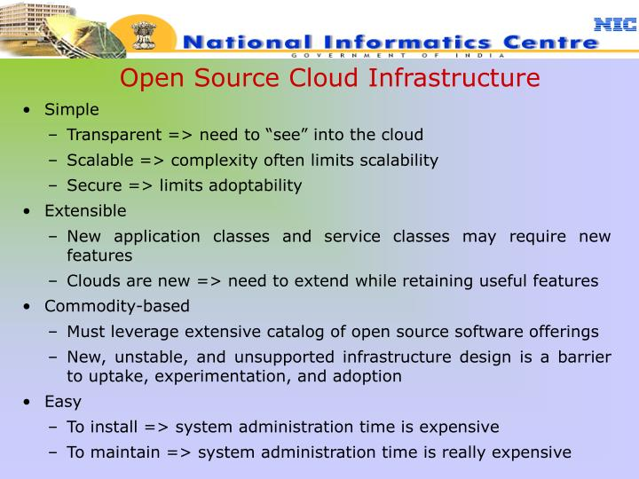 Open Source Cloud Infrastructure