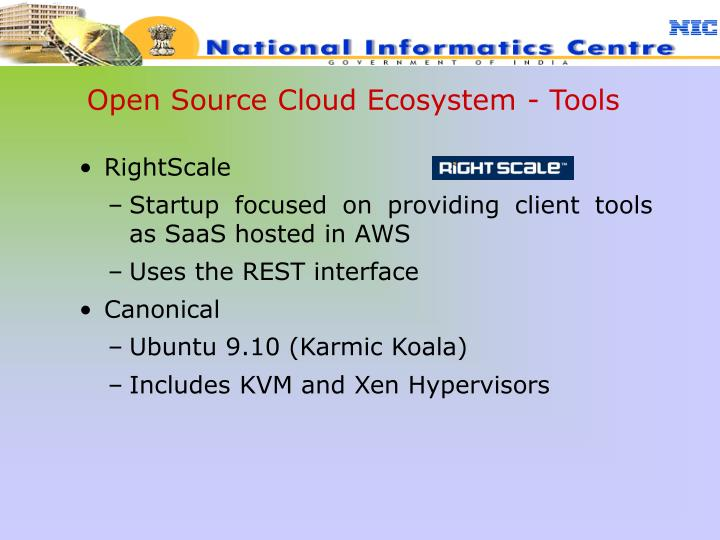 Open Source Cloud Ecosystem - Tools
