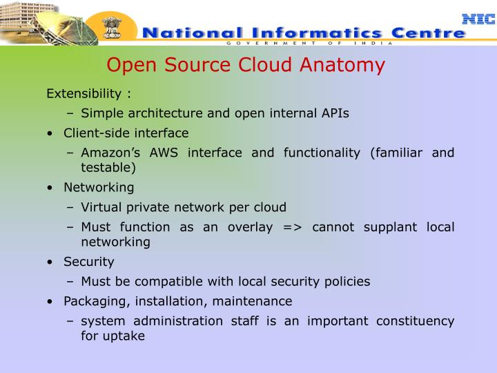 Open Source Cloud Anatomy