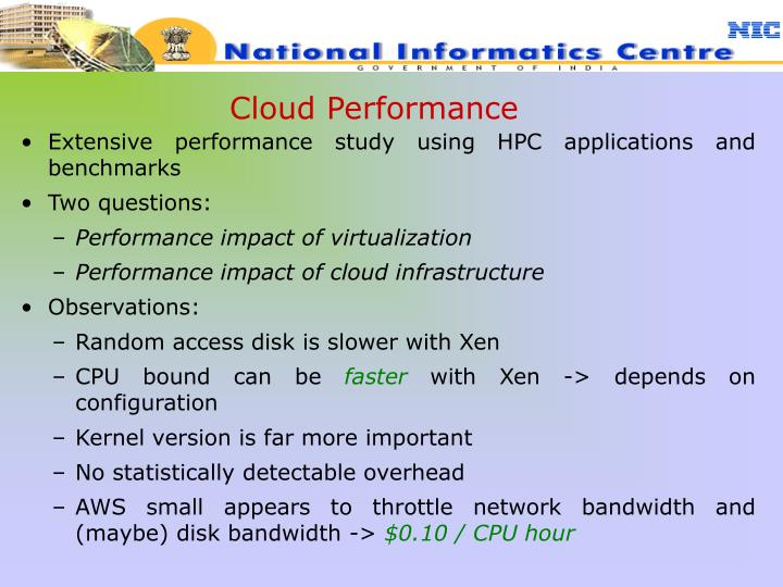 Cloud Performance