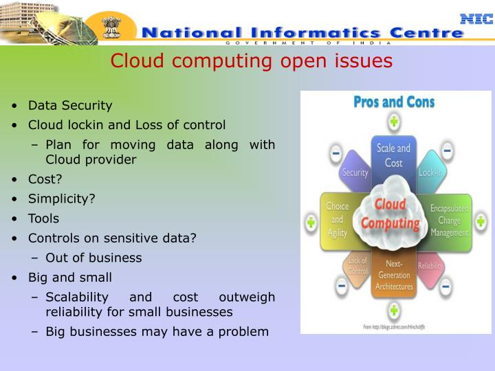 Cloud computing open issues