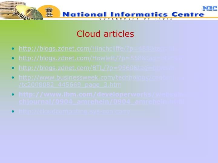 Cloud articles