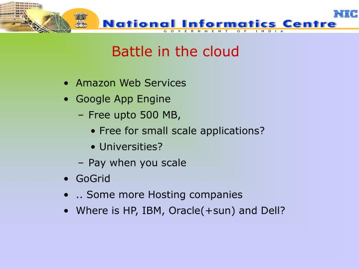 Battle in the cloud