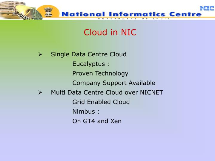 Cloud in NIC