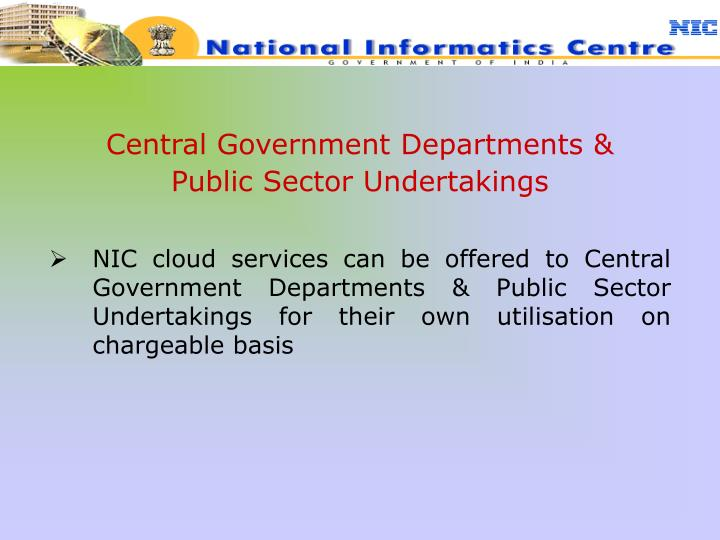 Central Government Departments &