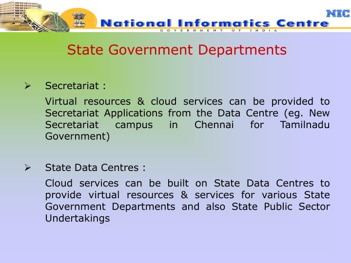 State Government Departments