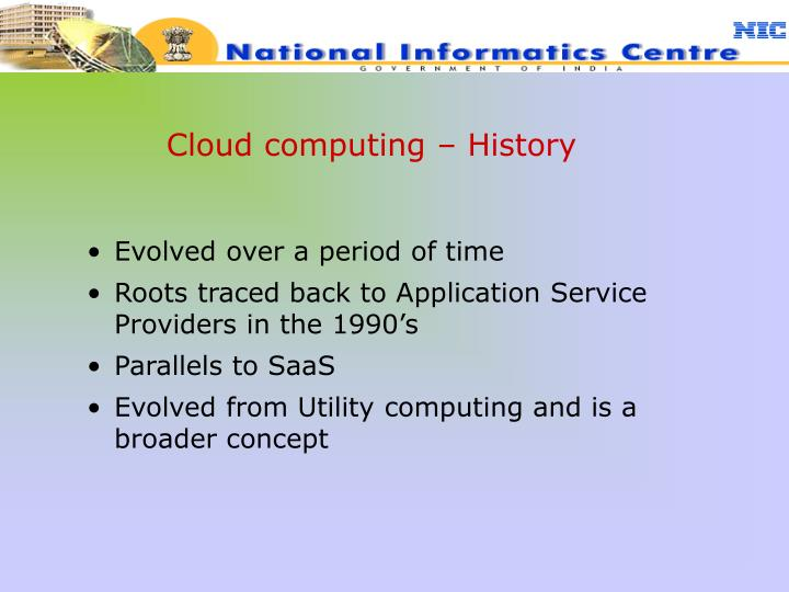 Cloud computing – History
