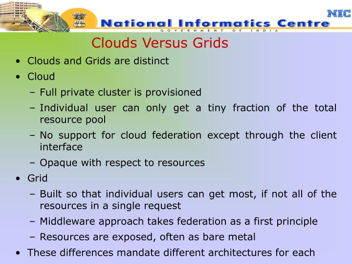 Clouds Versus Grids