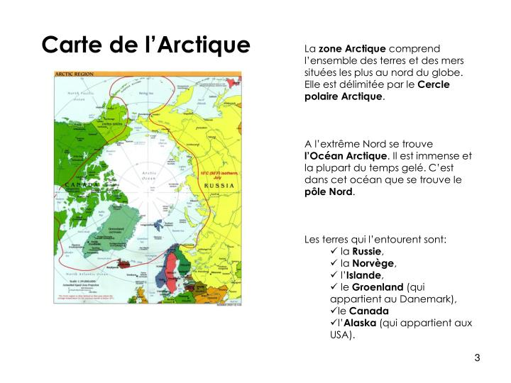 Carte de l'Arctique