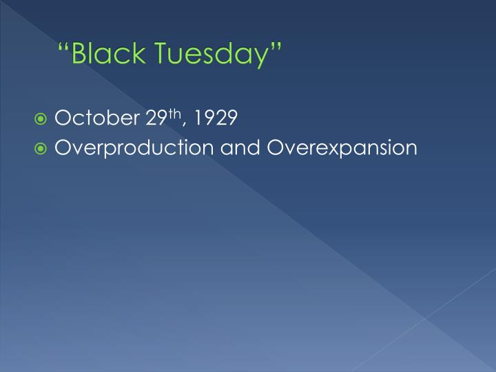 """Black Tuesday"""