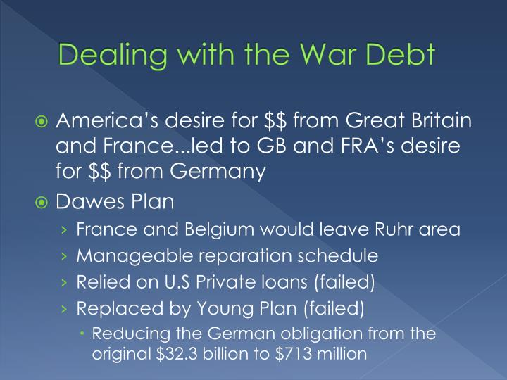 Dealing with the War Debt