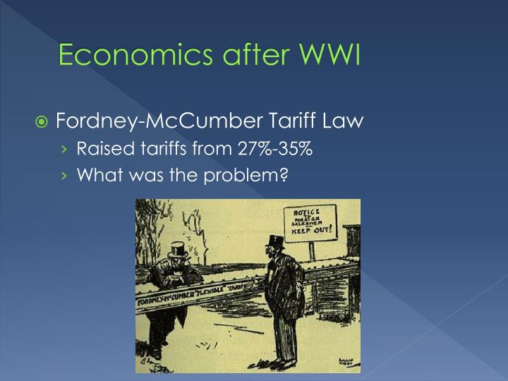 Economics after WWI
