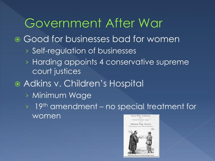 Government After War