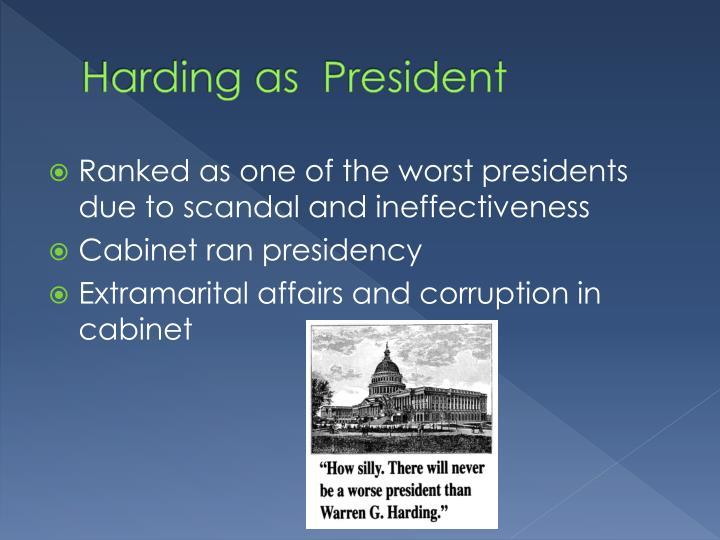 Harding as  President