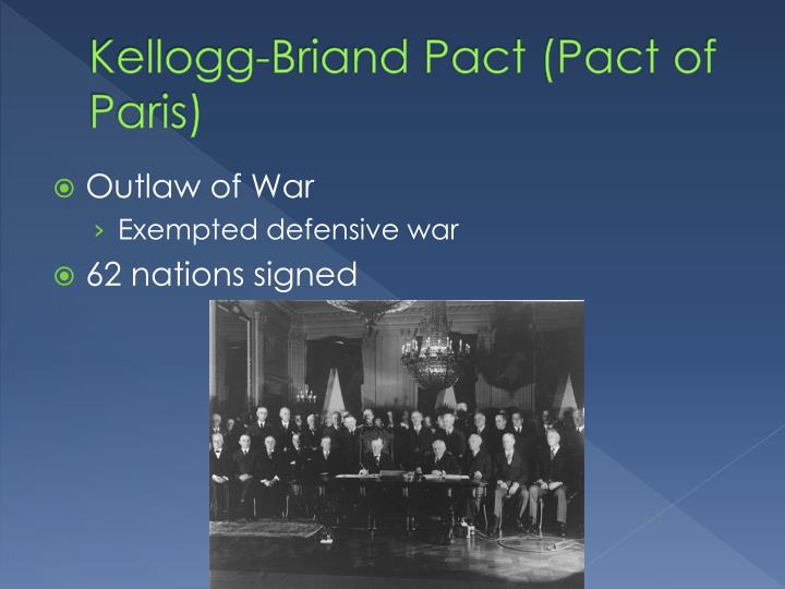 Kellogg-Briand Pact (Pact of Paris)