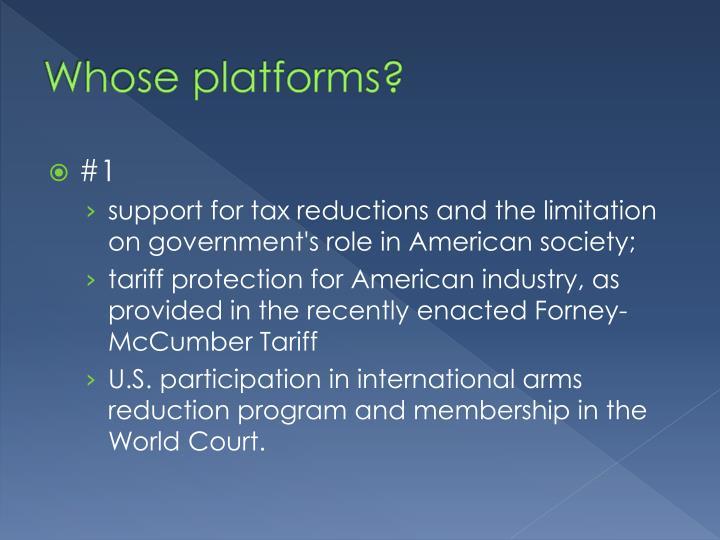 Whose platforms?