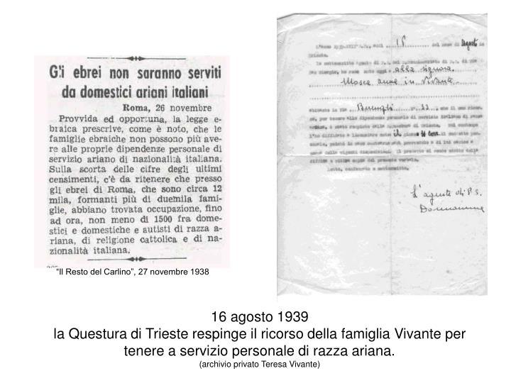 16 agosto 1939
